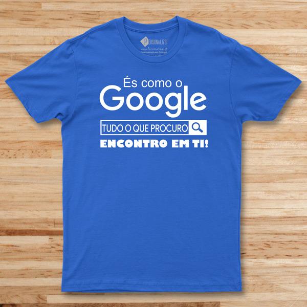 T-shirt És como o Google azul comprar em portugal