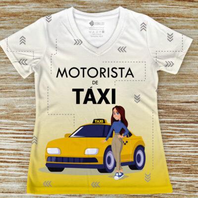 T-shirt Motorista de Táxi profissão/curso para mulheres