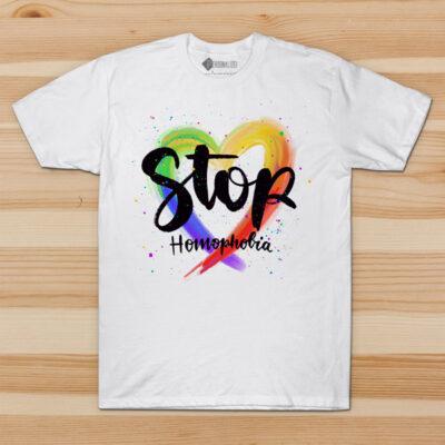 T-shirt Stop Homophobia Homem/Mulher comprar