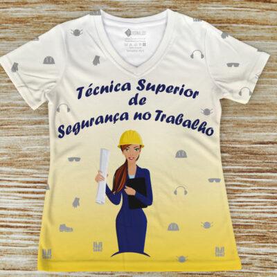 T-shirt Técnica Superior de Segurança no Trabalho profissão/curso