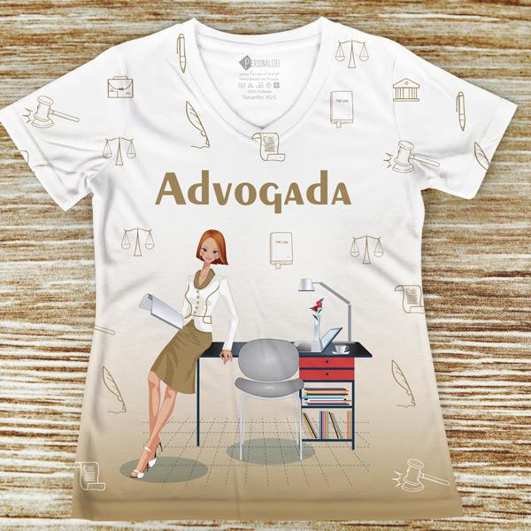 T-shirt Advogada profissão/curso direito em portugal