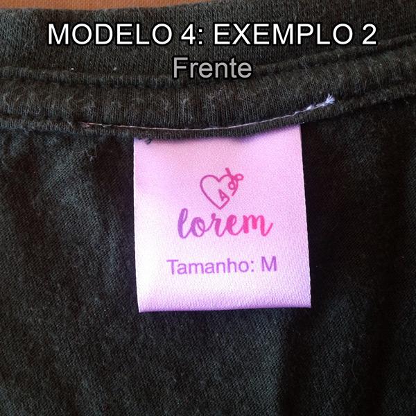 Etiquetas personalizadas modelo 4