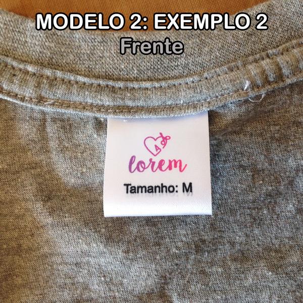 Etiquetas personalizadas modelo 2
