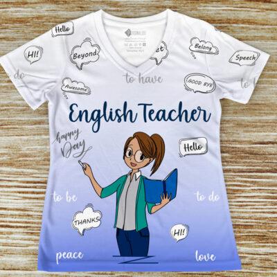T-shirt Professora de Inglês profissão/curso comprar em portugal