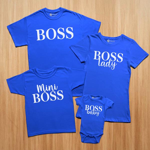 T-shirts Boss Lady Baby Mini conjunto família comprar personalizado
