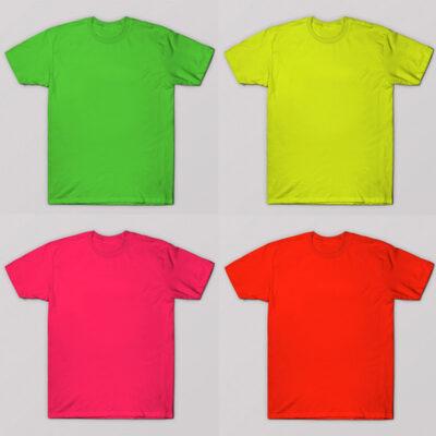 T-shirts coloridas para sublimação 100% poliéster toque de algodão comprar