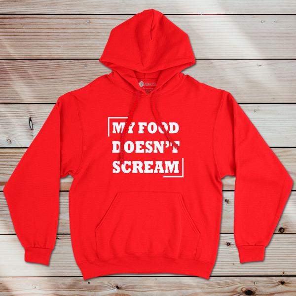 Sweatshirt com capuz My Food Doesn´t Scream comprar em portugal