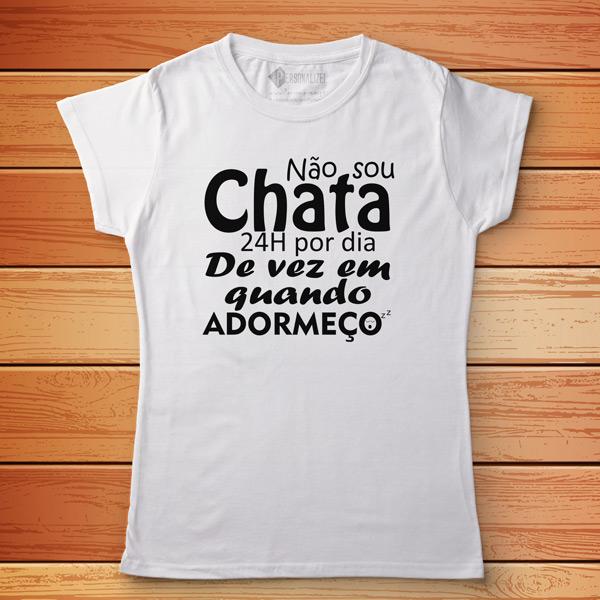 T-shirt Não sou chato(a) 24h por dia branca