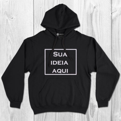 Sweatshirt com capuz personalizado vinil flex - Adulto Unisex