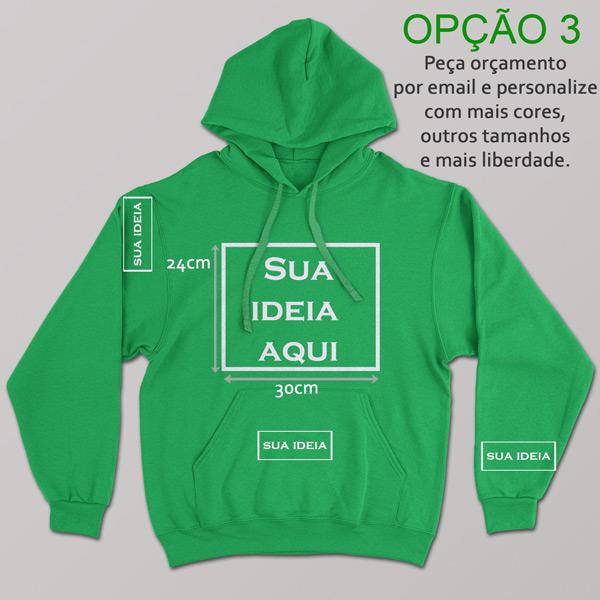 Sweatshirt com capuz personalizado vinil flex várias cores