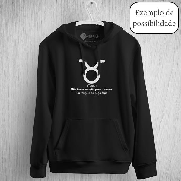 Sweatshirt com capuz personalizado vinil flex - Adulto Unisex exemplo
