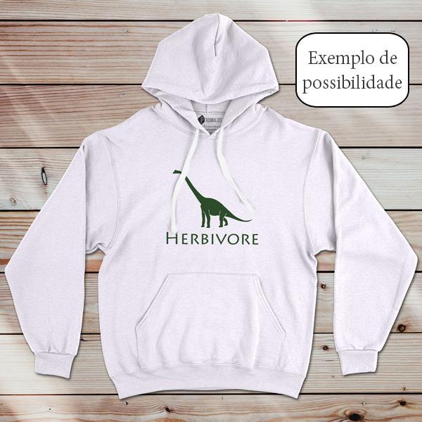 Sweatshirt com capuz personalizado vinil flex - Adulto Unisex branco