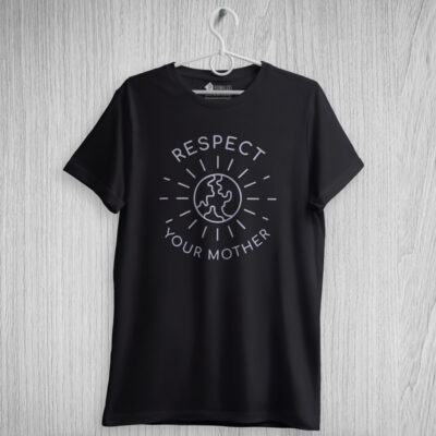T-shirt Respect Your Mother Earth tees vegan portugal