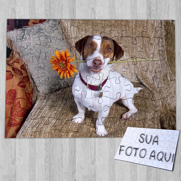 Puzzle personalizado com foto do seu animal de estimação seu cachorro