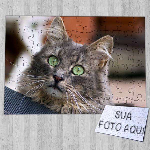Puzzle personalizado com foto do seu animal de estimação seu gato