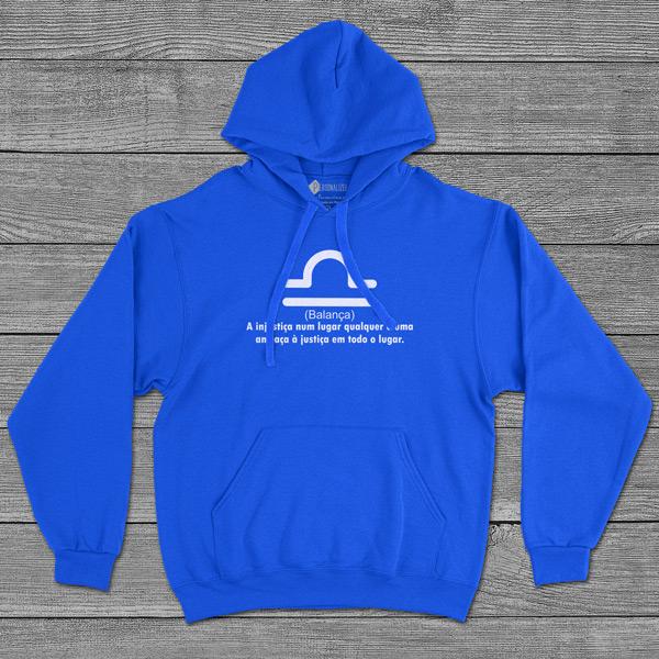 Balança Signo Sweatshirt com capuz Unisex azul