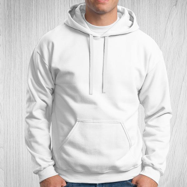 Sweatshirt com capuz Unisex Adulto 280-290g branco