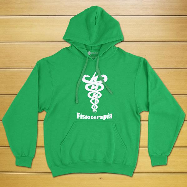 Sweatshirt com capuz Fisioterapia Curso/Profissão verde