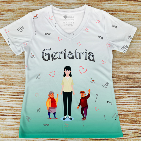 T-shirt Geriatria profissão comprar