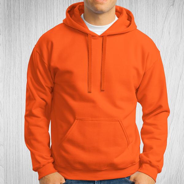 Sweatshirt com capuz Unisex Adulto 280-290g laranja