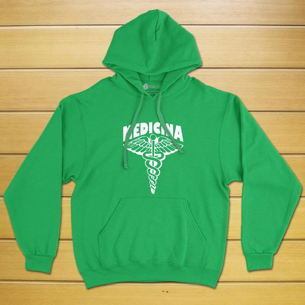 Sweatshirt com capuz Medicina Curso/Profissão verde