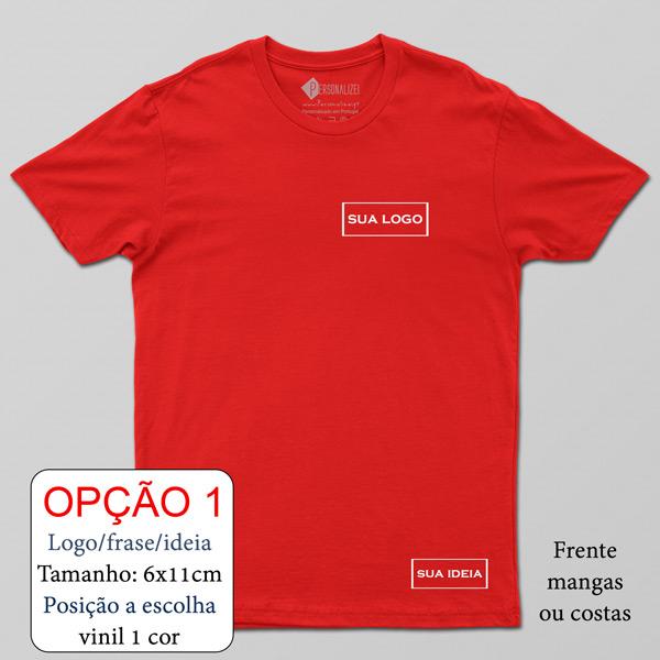 T-shirt personalizada com vinil flex - Homem Mulher e Criança personalize com logo