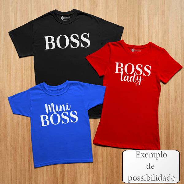 T-shirt personalizada com vinil flex - Homem Mulher e Criança
