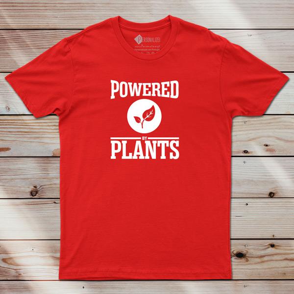 T-shirt Powered By Plants Homem/Mulher/Criança em portugal