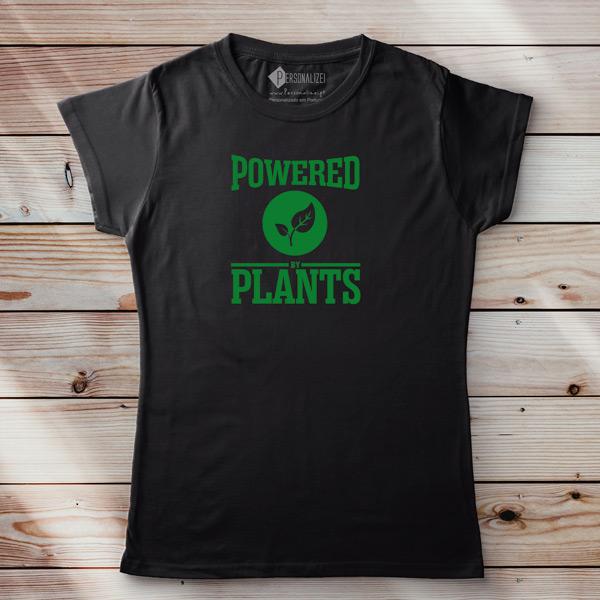 T-shirt Powered By Plants Homem/Mulher/Criança personalize pt