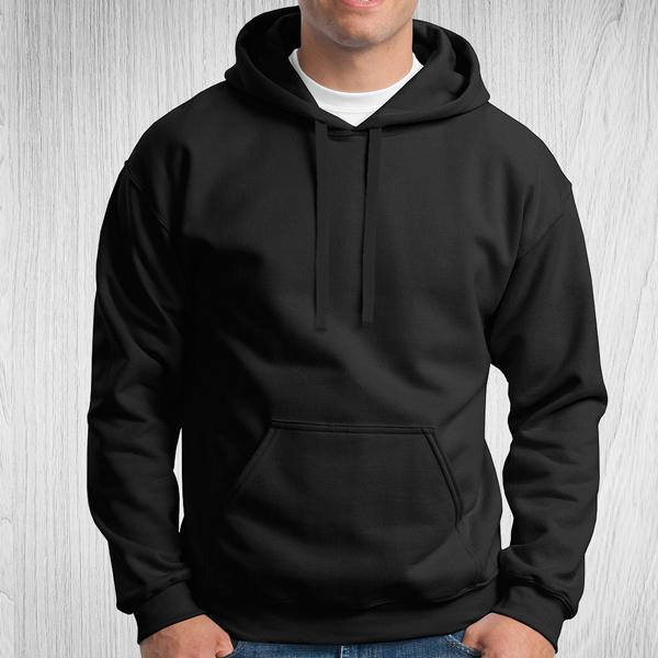 Sweatshirt com capuz Unisex Adulto 280-290g preto