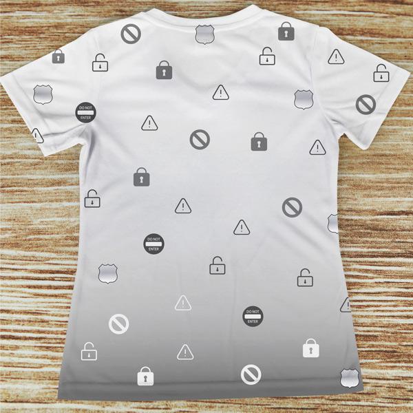 T-shirt Segurança profissão/curso costas