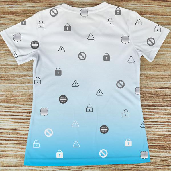 T-shirt Segurança profissão/curso costas azul