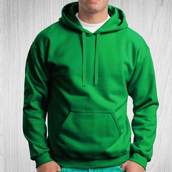 Sweatshirt com capuz Unisex Adulto 280-290g verde