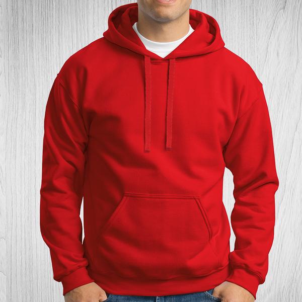 Sweatshirt com capuz Unisex Adulto 280-290g vermelho