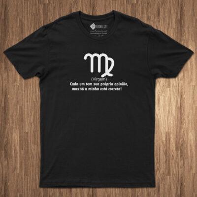 T-shirt Signo Virgem frase Cada um tem... preta comprar