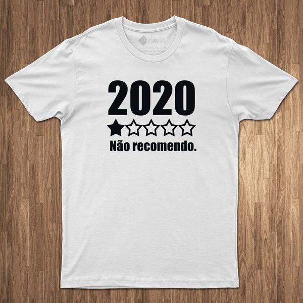 T-shirt 2020 não recomendo covid-19