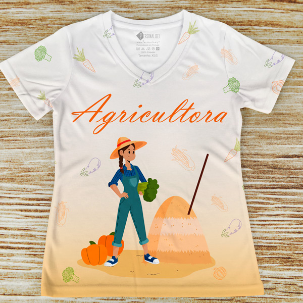 T-shirt Agricultora profissão/curso personalizada