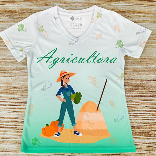 T-shirt Agricultora profissão/curso verde