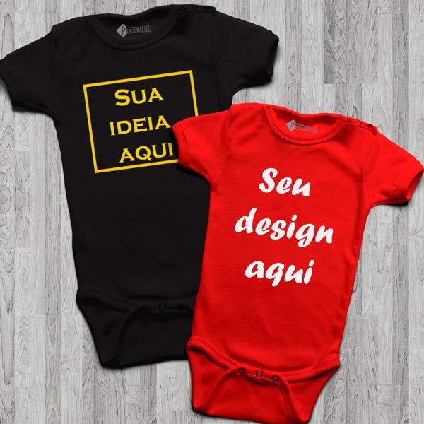 Body bebé personalizado com vinil flex personalizado para bebé