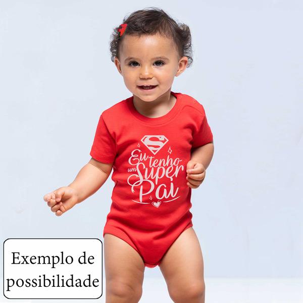 Body bebé personalizado com vinil flex vermelho
