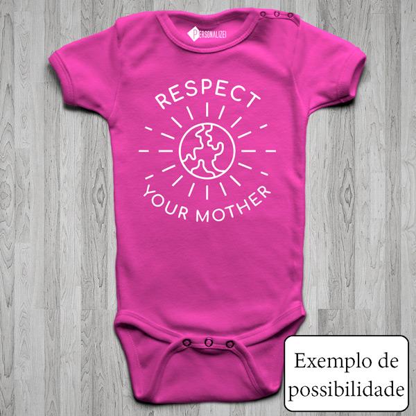 Body bebé personalizado com vinil flex rosa