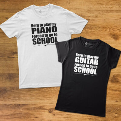 T-shirt Born to play my Instrument camisetas de instrumentos