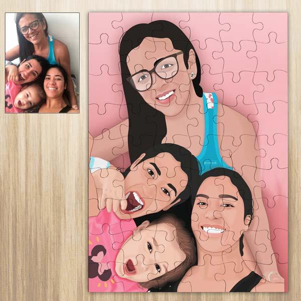 Puzzle personalizado com foto Ilustrada