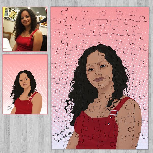 Puzzle personalizado com foto Ilustrada - Meio corpo comprar