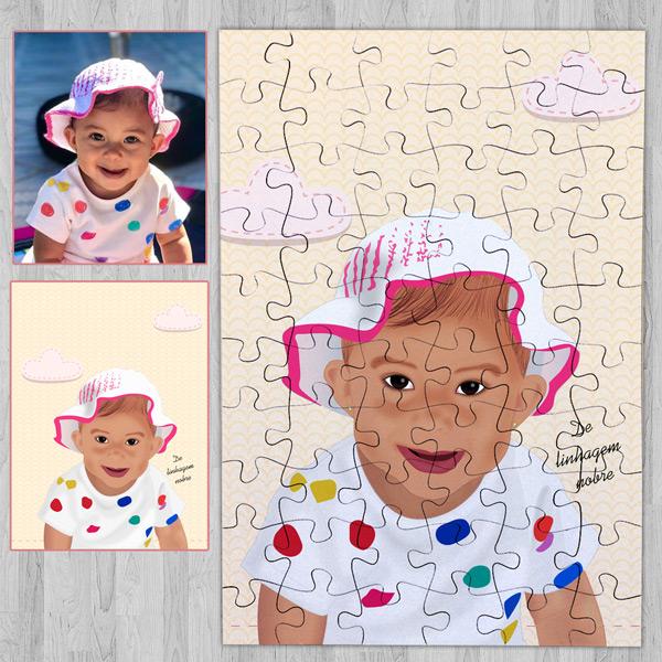 Puzzle personalizado com foto Ilustrada comprar em portugal