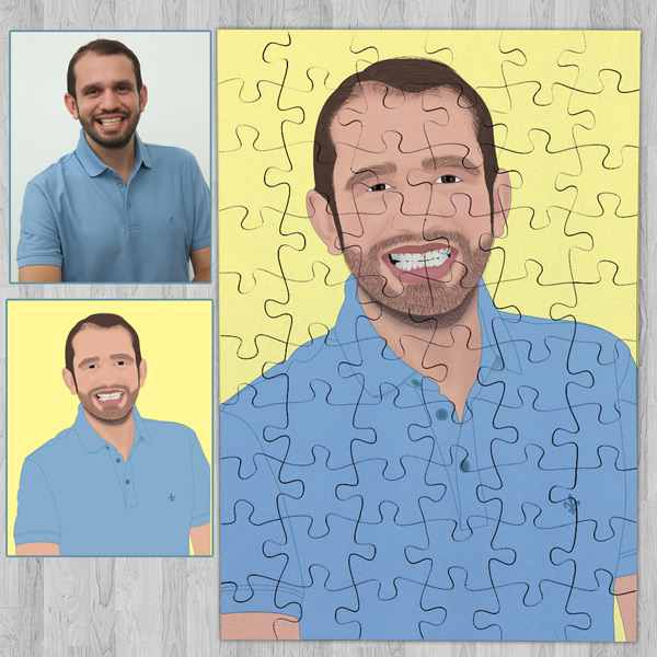 Puzzle personalizado com foto Ilustrada Personalize