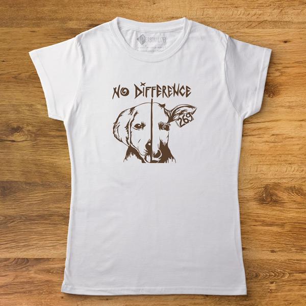 T-shirt No Difference Homem/Mulher/Criança personalize