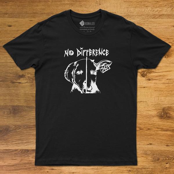 T-shirt No Difference Homem/Mulher/Criança preta