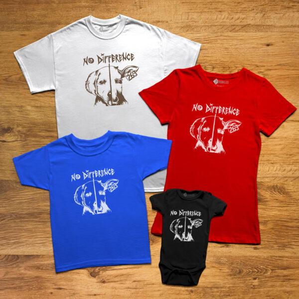 T-shirt No Difference Homem/Mulher/Criança