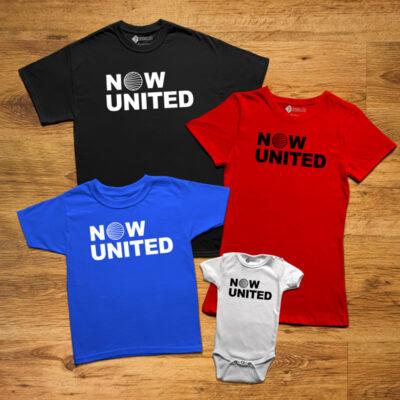T-shirt Logo Now United para toda a família em várias cores